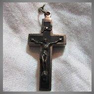 Old Nuns Priests Reliquary Crucifix Cross  St Venantius Agnus Dei & Martyrs