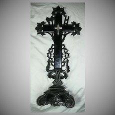 Antique Altar True Cross French Relic Reliquary