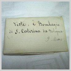 Saint Catherine Of Bologna Paper Reliquary