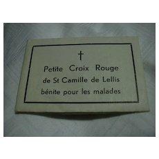St Camille De Lellis Red Cross Paper Reliquary