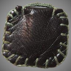 Leather Agnus Dei Pouch Reliquary