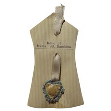 Relic of Maria SS Bambina Hand Sewn Reliquary Virgin Mary