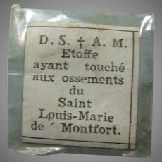 St Louis-Marie de Montfort Paper Reliquary