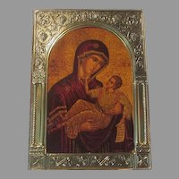 Greek Icon Virgin Mary Infant Jesus Our Lady