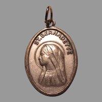 St Bernadette  Reliquary Medal Cloth Relic