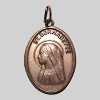 St Bernadette  Reliquary Medal Cloth Relic