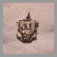Reliquary Slider Medal St Anne de Beaupre With Relic