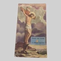 Blessed Palm Reliquary Card Jesus Easter Sacramental