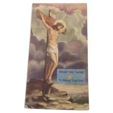 Blessed Palm Reliquary Card Jesus Easter Sacramental
