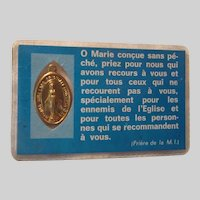 Virgin Mary Miraculous Medal Pocket Card French