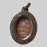 Reliquary St Vincent Regis Diodore Virgin Mary Locket