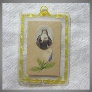 St Margaret Mary Alacoque Paper Reliquary