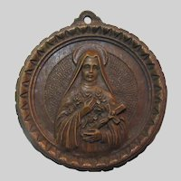 St Therese of the Little Flower Lisieux House Blessing Plaque Medal