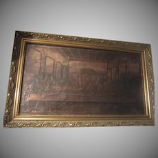 Framed Copper Last Supper Religious Art
