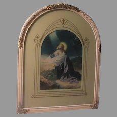 Jesus Praying  Gethsename Art Religious Print