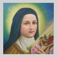 Old St Therese Lisieux Little Flower Small Print