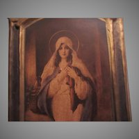 Virgin Mary Art Madonna of the Sacred Coat C Bosseron Chambers