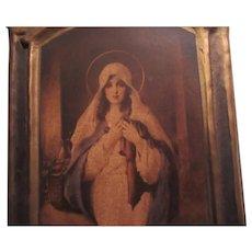 Virgin Mary Art Madonna of the Sacred Coat C Bosseron Chambers