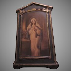 Virgin Mary Florentine Art  Madonna of the Sacred Coat C Bosseron Chambers