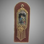 Jeweled Madonna Art Virgin Mary Infant Jesus One Of A Kind