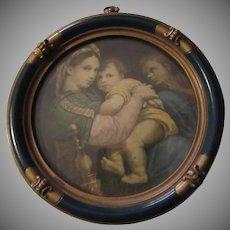 Virgin Mary Infant Jesus St John Framed Miniature Print Religious Art