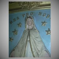Large Virgin Mary Shadowbox Framed Plaque Miraculous Our Lady Ora Pro Nobis