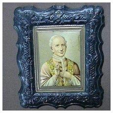 St John Vianney Religious Art  Embossed Print