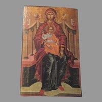 Greek or Russian Icon Art On Wood