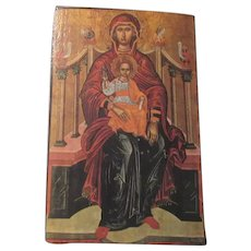 Greek or Russian Icon Art On Wood