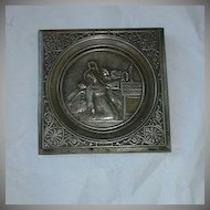St Rita Metal Plaque Religious Art Icon