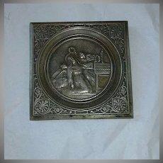 St Rita Metal Plaque Religious Art Icon