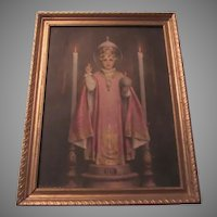 Bosseron Chambers Jesus Infant of Prague Old Print