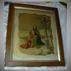 Old Religious Framed Print In Thee Do I Put My Trust