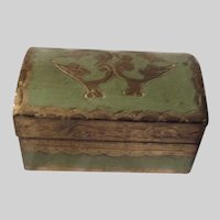 Italian Florentine Small Dome Topped Box