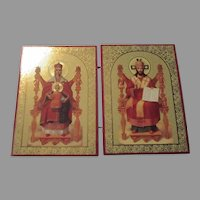Vintage Russian Double Folding Icon