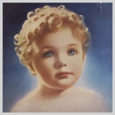 Old Faith Print by Annie Benson Muller Young Child