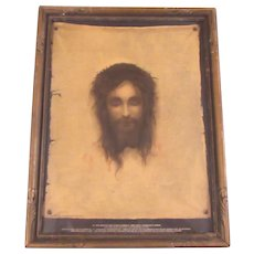 Old Print Jesus Holy Shroud Print House Of Art New York