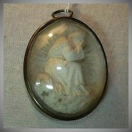 Our Lady of La Salette Virgin Mary Carved French Pipe Clay Cameo Art
