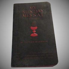My Sunday Missal 1956 Catholic Religious Prayer Book