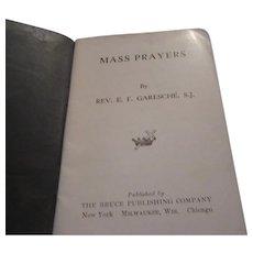Mass Prayers 1928 Catholic Small Prayer Book