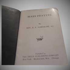Mass Prayers 1928 Catholic Small Prayer Book