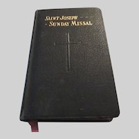 Saint Joseph Sunday Missal 1953 Large Type Prayer Book