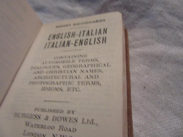 Leather Miniature English Italian Dictionary