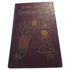 Saint Joseph Children's Missal 1954 Hardback Catholic Prayer Book