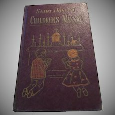 Saint Joseph Children's Missal 1954 Hardback Catholic Prayer Book