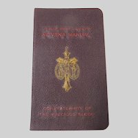 Triple Novena Manual of Jesus Mary Joseph 1943 Catholic Prayer Book