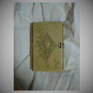 Old Celluloid Catholic German Prayer Book Communion Eucharist