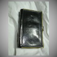 Black Leather Book Of Common Prayer 1857 Brass Clasps Religious Prayer