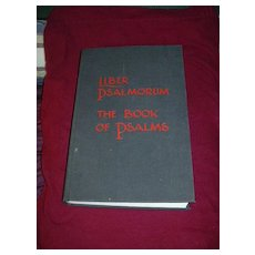 Liber Psalmorum The Book Of Psalms 1985 Limited Edition