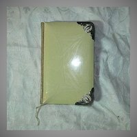 Book Of Common Prayer Oxford England Celluloid & Sterling Silver Binding